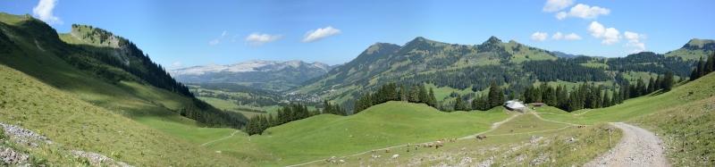 Panorama Alp Stafel oberhalb Emmensprung 1465m,  Aug. 2013