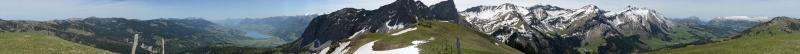 Panorama Glaubenbielen-Alpoglerberg 1842m, Mai 2014