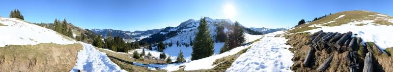 Panorama Hilferenpass 1300m, Dez. 2013