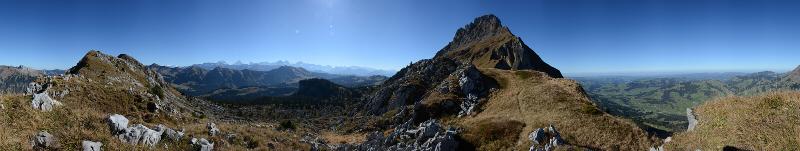 Panorama Hohgant Jurteflueh 1905m, Okt. 2017
