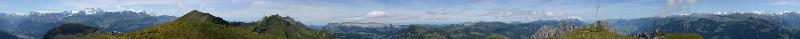 Panorama Männli Nebenstock (Rothornkette) 2107m, August 2014
