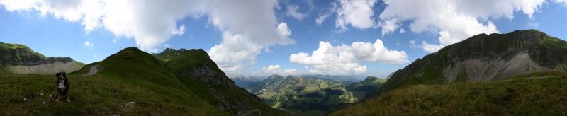 Panorama Eisee-Sattel 1920m, Aug. 2013