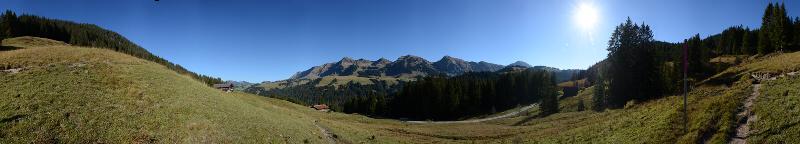 Panorama Schärpfeberg am Hohgant 1340m, Okt. 2017