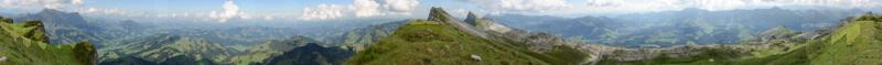 Panorama Schratteflueh 2023m, Aug. 2013