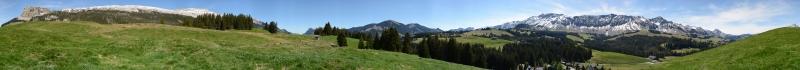 Panorama Wagliseichnubel 1409m,  Mai 2014