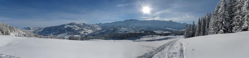Panorama oberhalb Schlund 1500m, Jan 2013