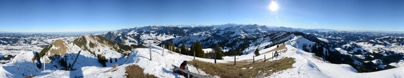 Panorama von der Beichlen 1769m, Dez. 2013
