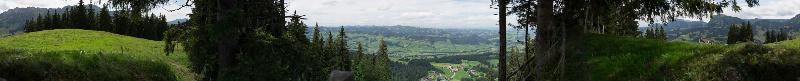 Panorama First ob Heiligkreuz 1468m, Aug. 2014